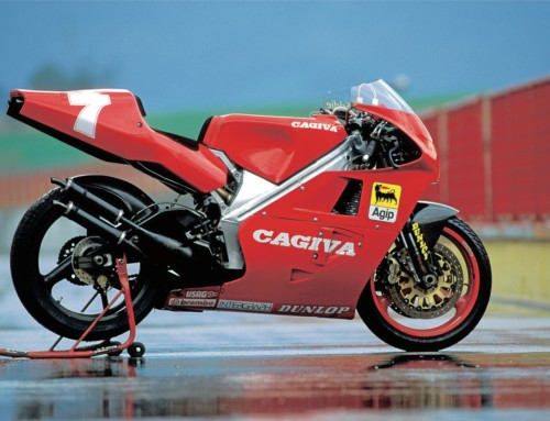 World first for Cagiva racing: Showcased at Stafford!